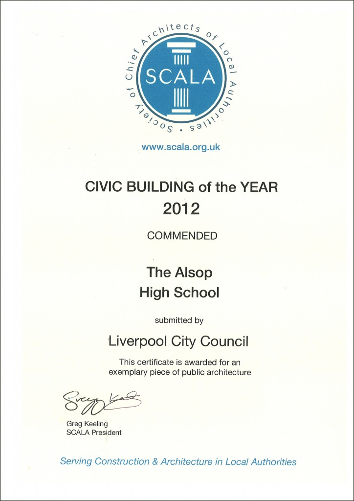 SCALA CIVIC BUILDING OF THE YEAR